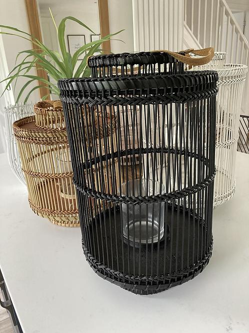 Tall Black Bamboo Lantern