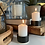Thumbnail: Stoneware candle holder and candle
