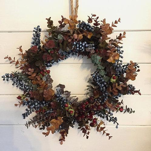 Foliage and acorn wreath