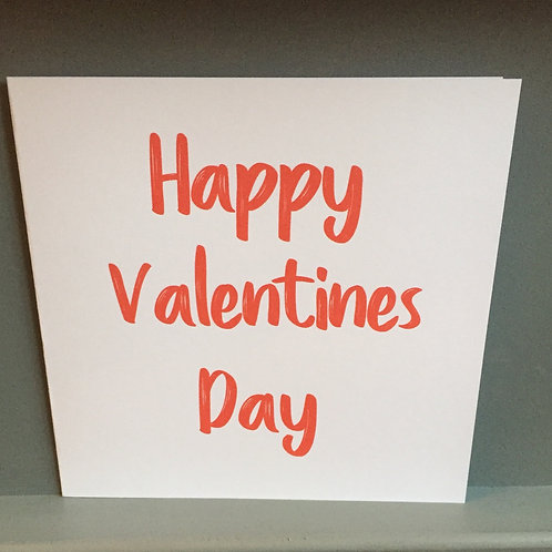 Red Valentines card