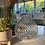 Thumbnail: Clear glass onion vase