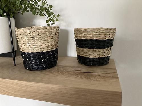 Set of 2 sea grass planters