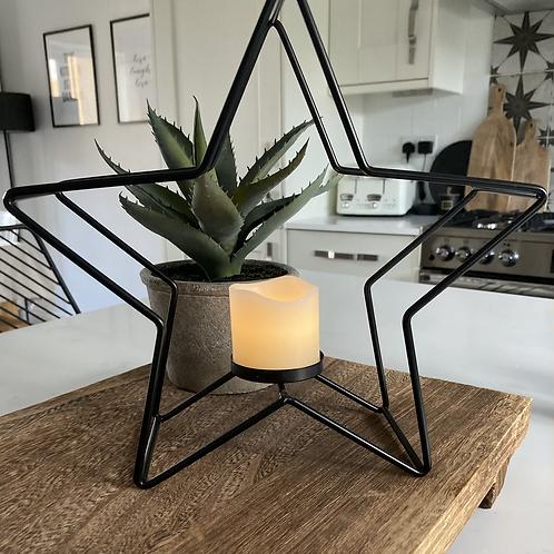 Wire tea light Star