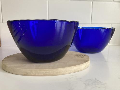 Blue glass nibbles bowl
