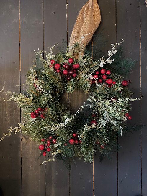 Traditional berry wreath