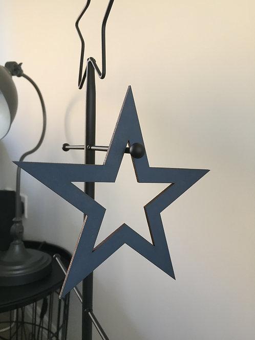 Wooden open star