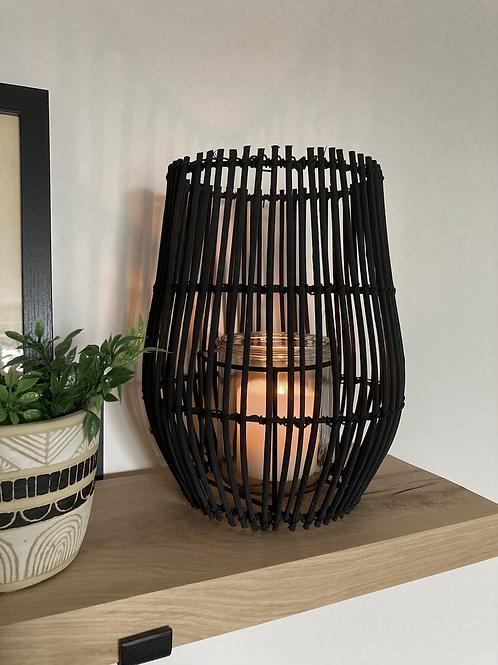 Black rattan lantern