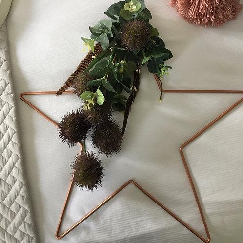 Christmas Star thistle wreath