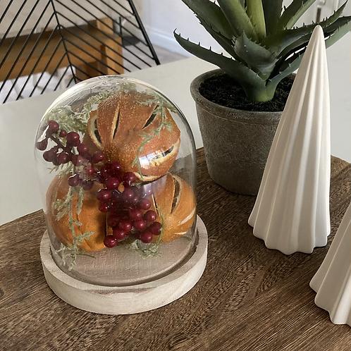 Orange cloche vase