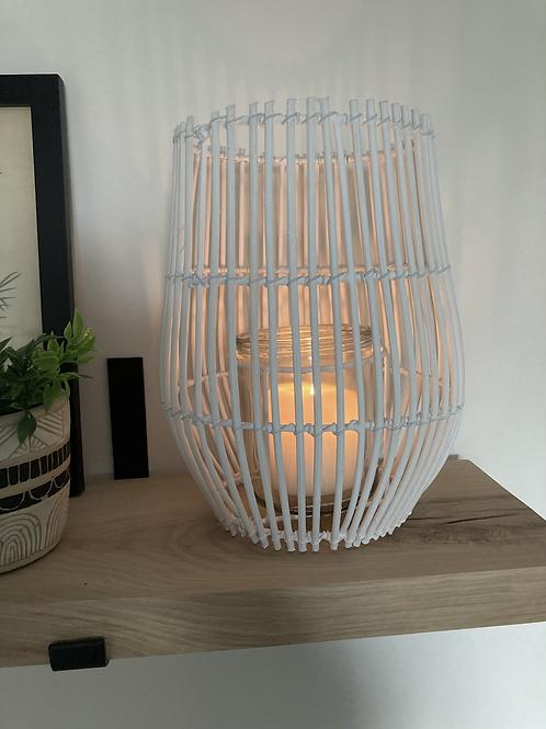 White rattan lantern