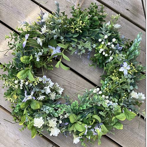 White Berry Spring wreath