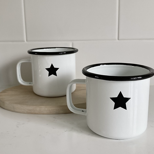 Star Enamel Mug