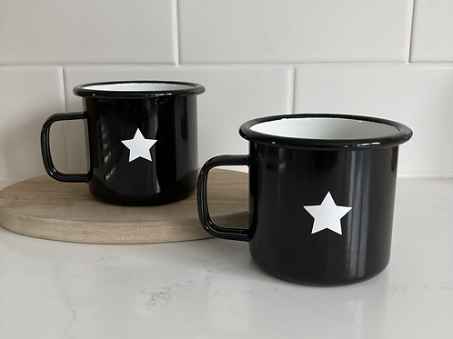 Star mug- black
