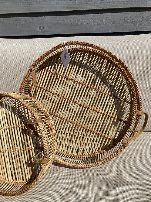 Large Natural Bamboo tray