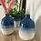 Thumbnail: Glazed blue vase