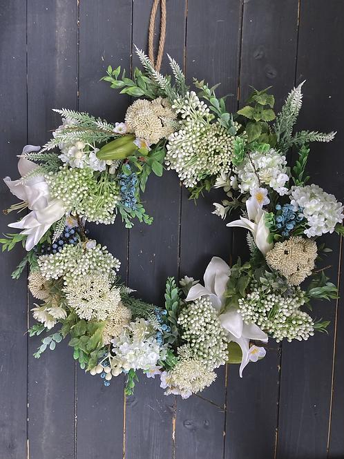 White Spring Wreath