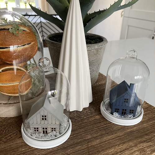 Cloche hanging house bauble