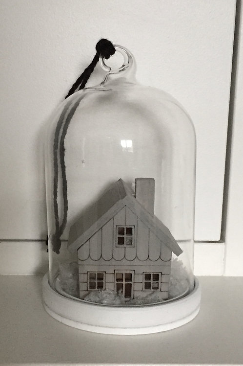 Wooden house hanging decoration