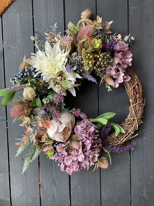 Purple Spring wreath