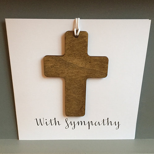 Sympathy cross card