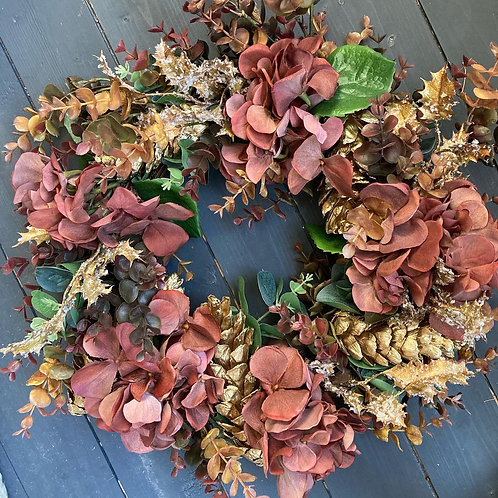 Bronze and Gold wreath -ONLY ONE AVAILABLE