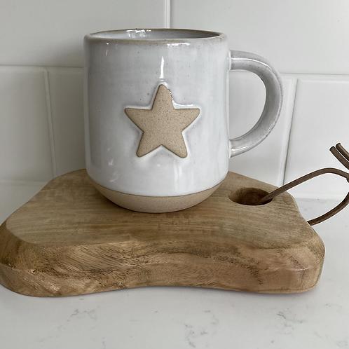 Star ceramic mug