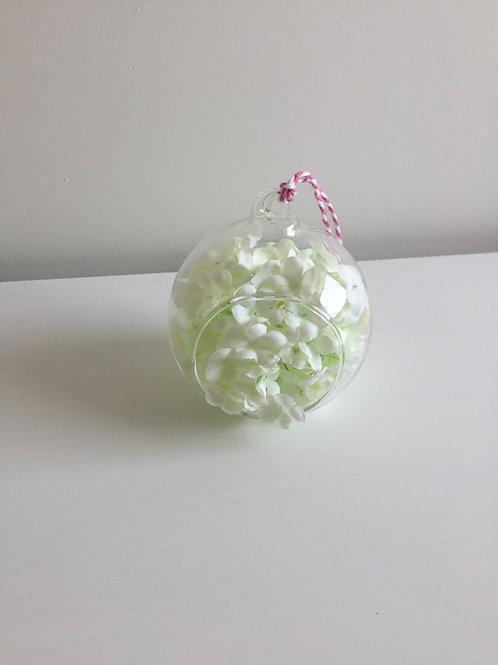 Glass flower hanging dec