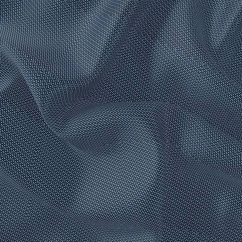 Doublure soie pois Bleu marine