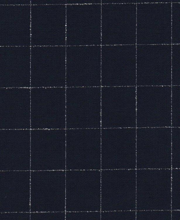 Tissu Laine bleu marine carreaux