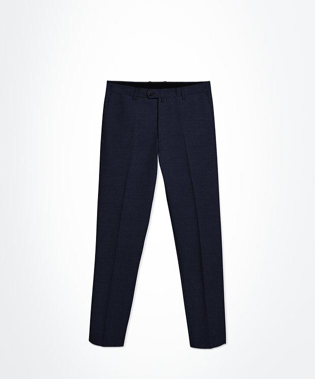 Pantalon bleu marine micro motifs