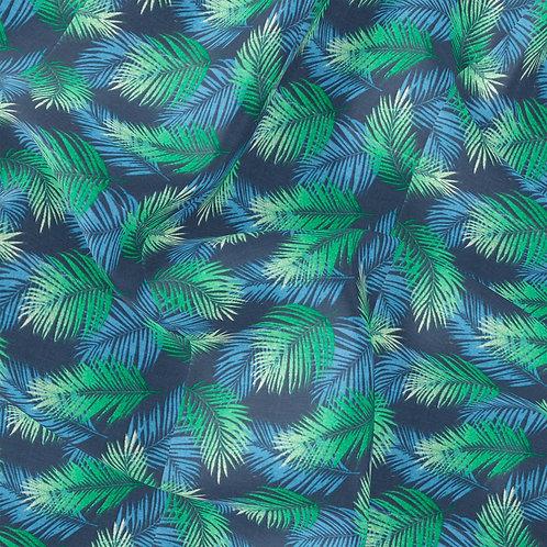 Doublure Palmier Bleu / vert