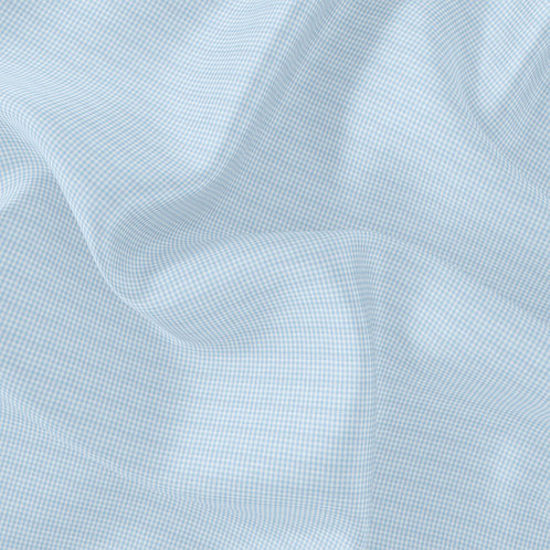 Doublure Vichy bleu ciel