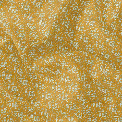 Doublure Fleuri Moutarde