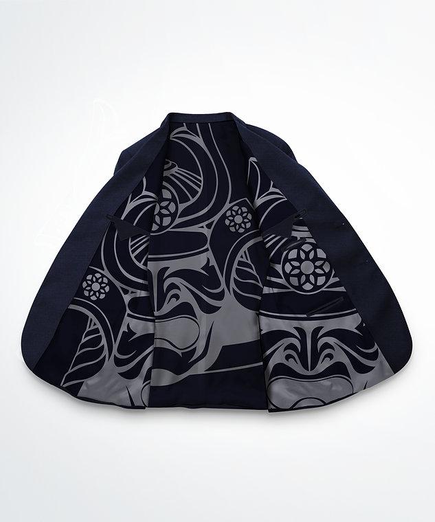 interieur Veste bleu marine micro motifs