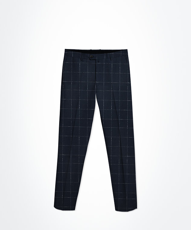 Pantalon bleu marine carreaux