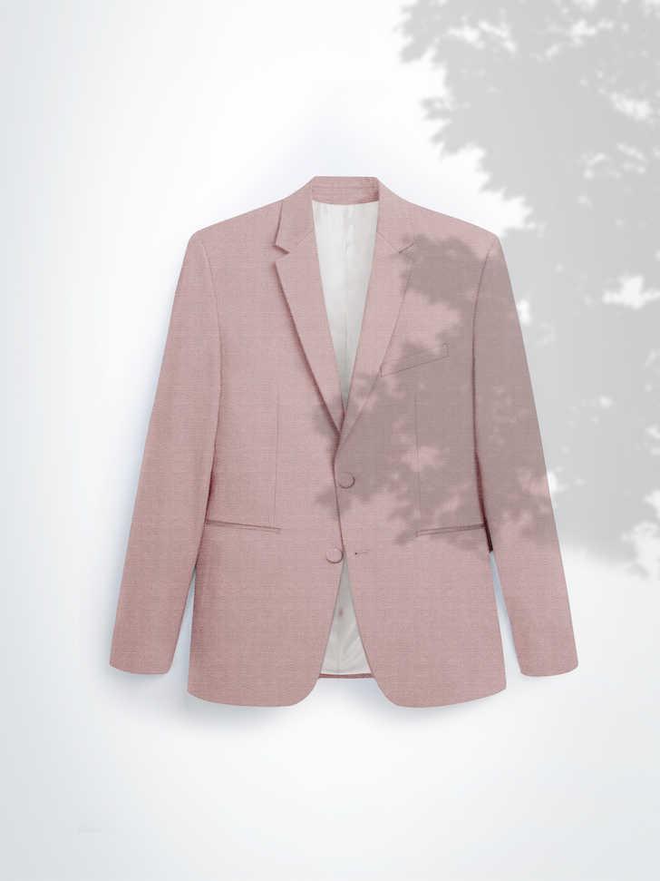 VESTE SUR-MESURE ROSE NATTÉ 600 EUR