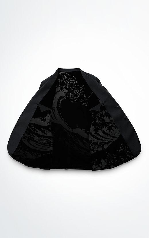 interieur Veste noir micro motifs