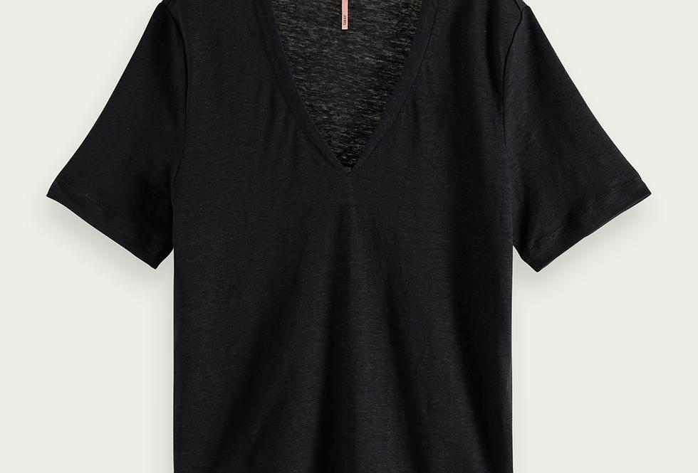 T-shirt classique en lin