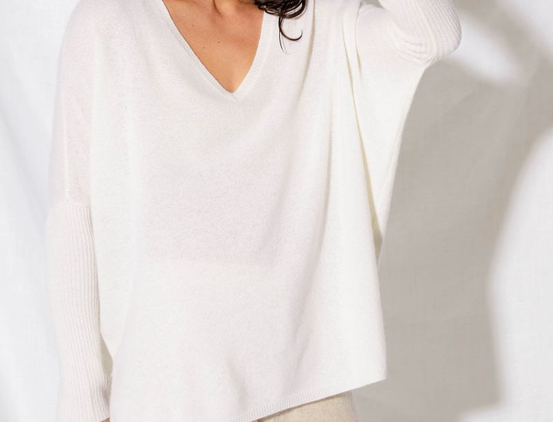 Pull Cachemire PONCHO FAUSTINE