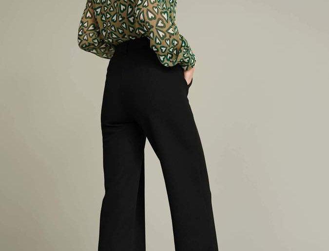 Pantalon FLOWER LOVE BLACK