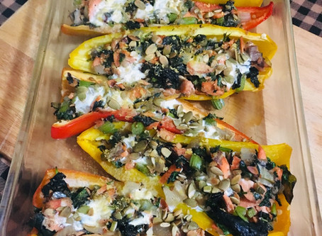 Salmon Stuffed Peppers -RESTART approved