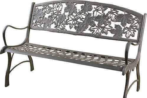 Cast iron bench - maple leaves