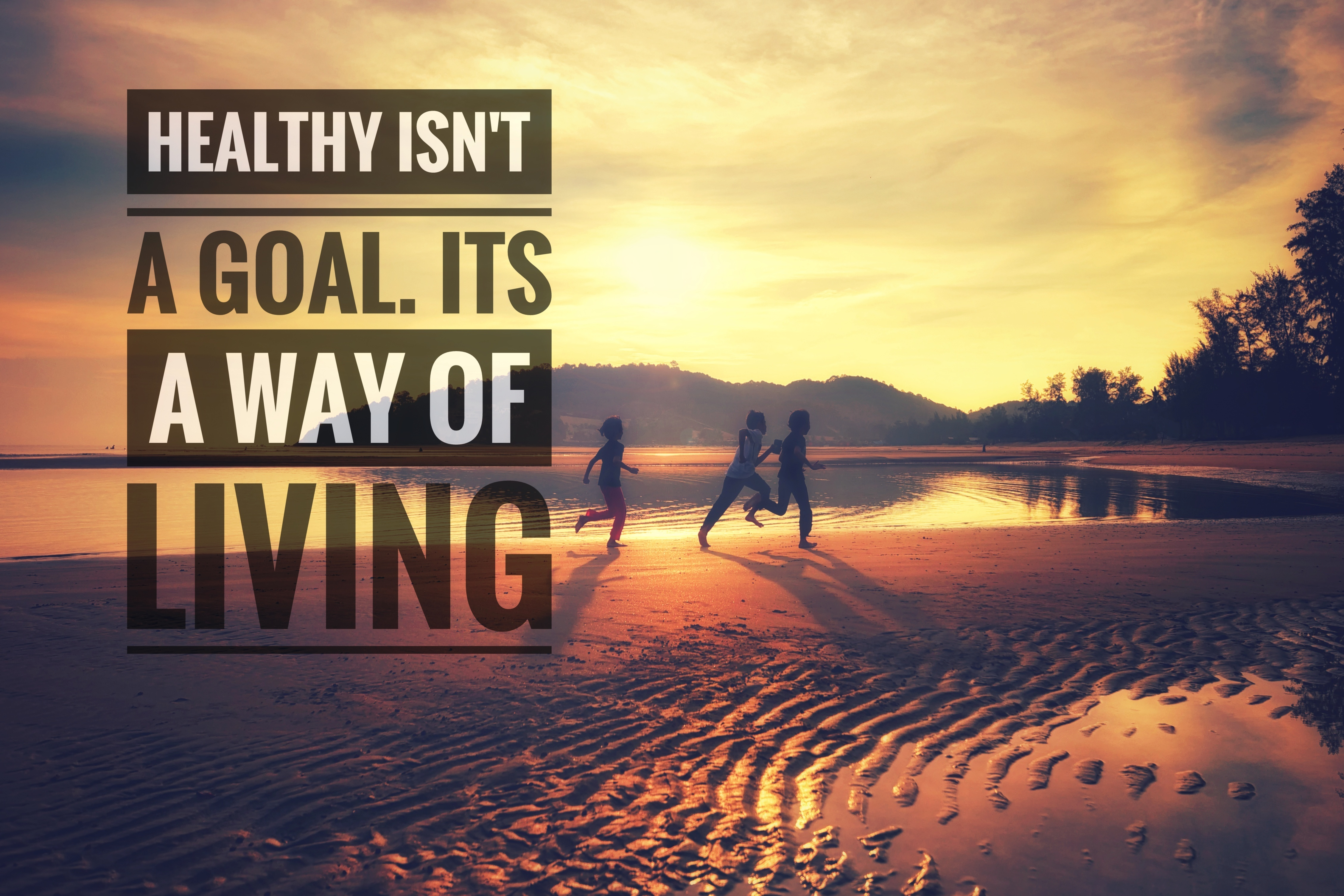 Health motivational quote with backgroun