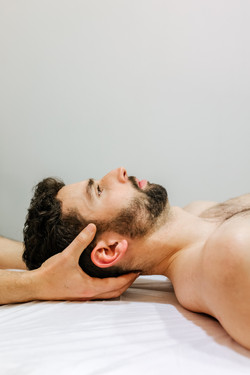 Patient being treated in a chiropractic