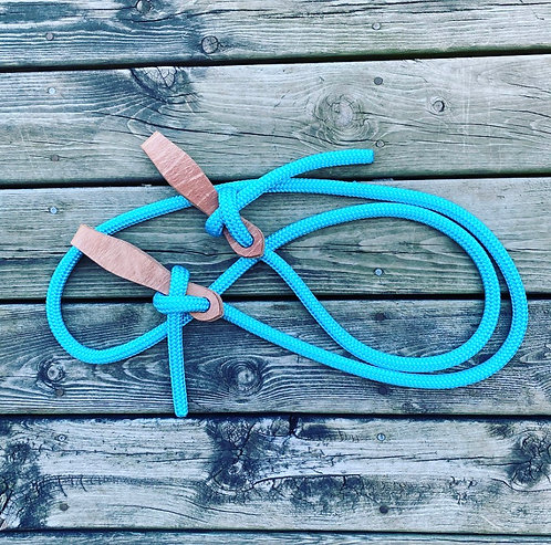 10' Turquoise Clinician Reins W/ Slobber Straps