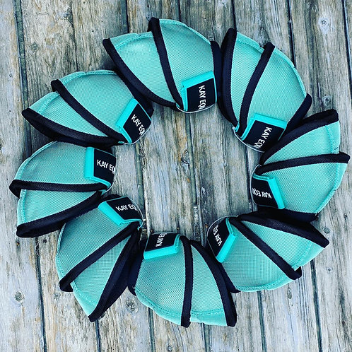 TURQUOISE BELL BOOTS