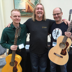 With Paul Heumiller and Juha in the Holy Grail Guitar Show 2015
