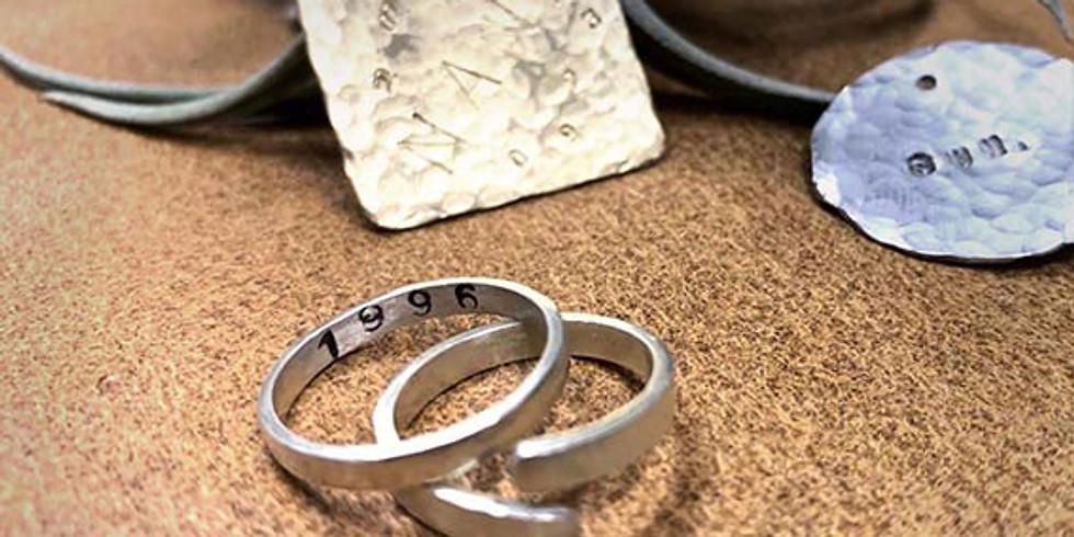 1日限定ws!銀の指輪と真鍮のネームプレート作り!