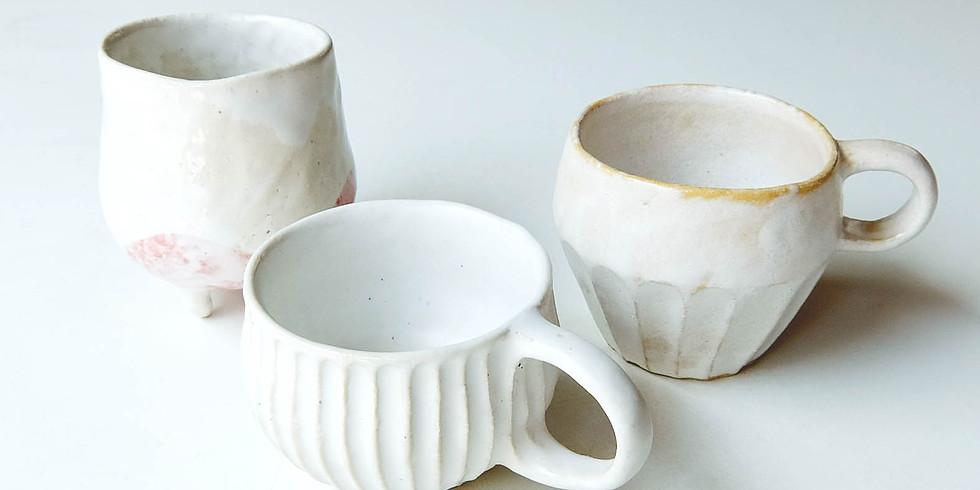 陶芸のカップ!好きな形のカップを作ろう!