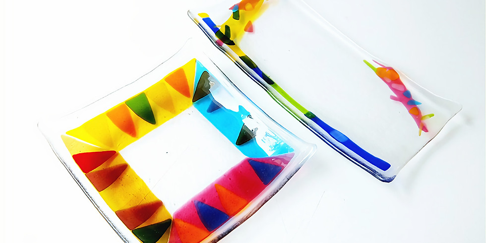 ガラスのお皿作り!色んなガラス片で楽しく模様を作ろう!